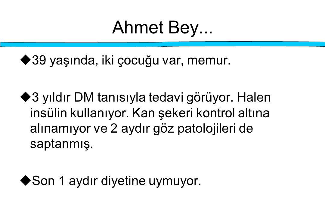 Ahmet Bey... 39 yaşında, iki çocuğu var, memur.