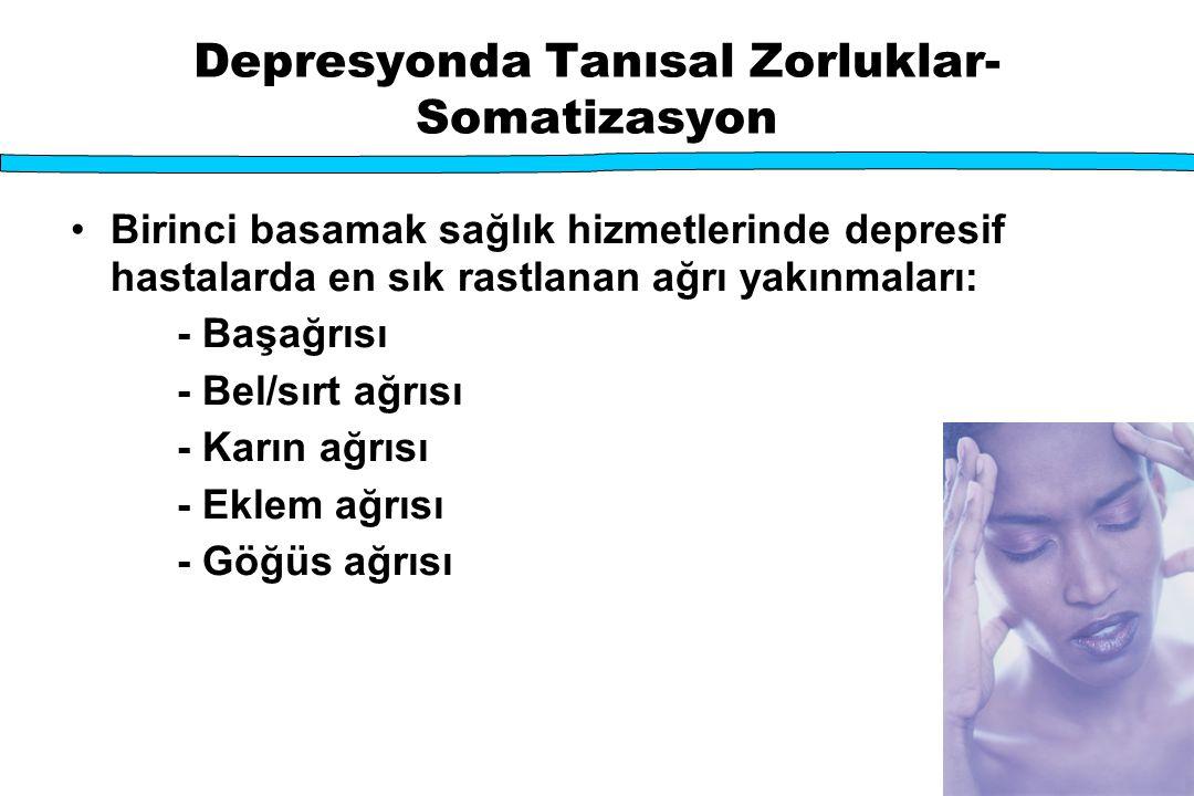 Depresyonda Tanısal Zorluklar-Somatizasyon