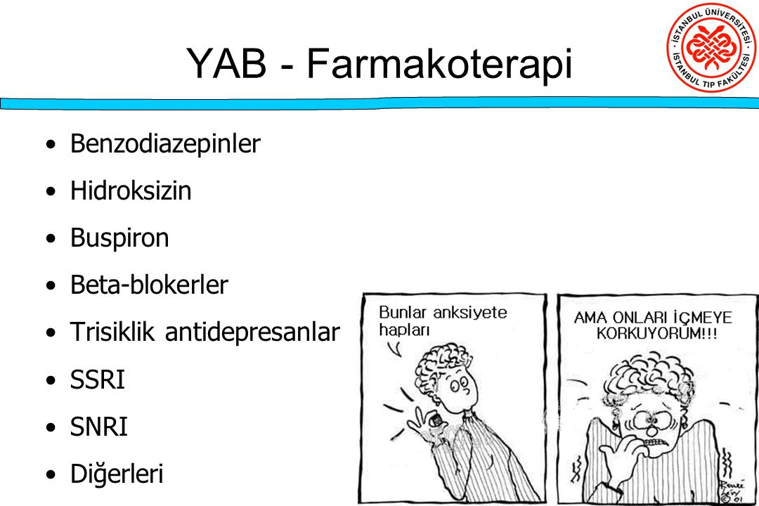 YAB - Farmakoterapi Benzodiazepinler Hidroksizin Buspiron
