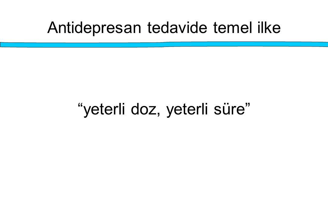 Antidepresan tedavide temel ilke