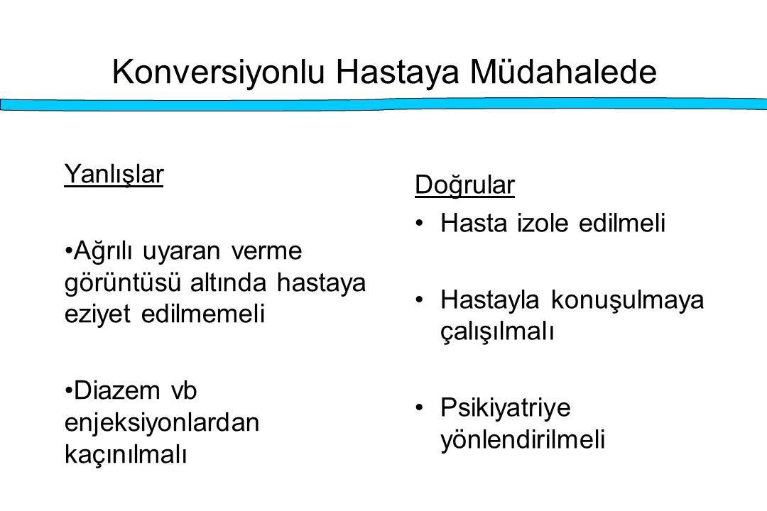 Konversiyonlu Hastaya Müdahalede