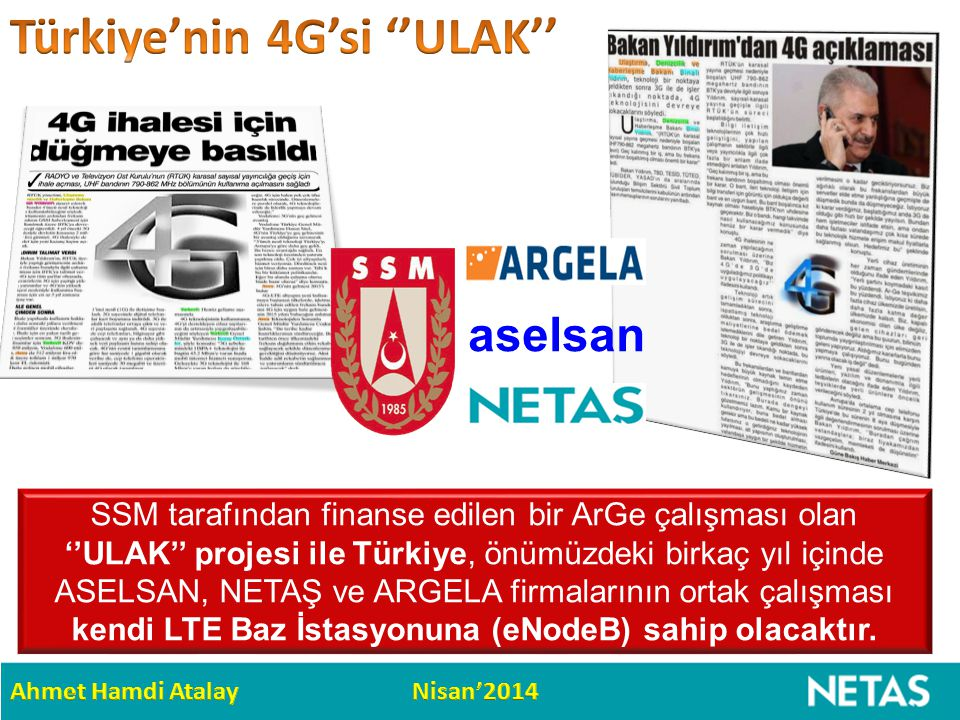 Türkiye'nin 4G'si ''ULAK''