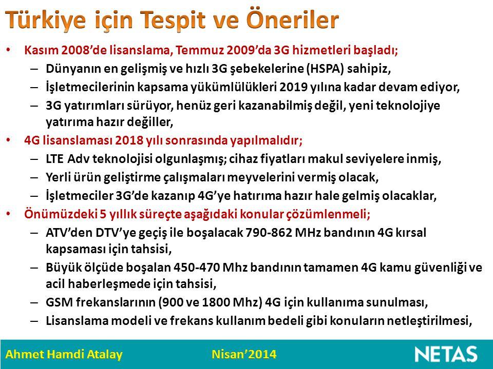 Türkiye için Tespit ve Öneriler