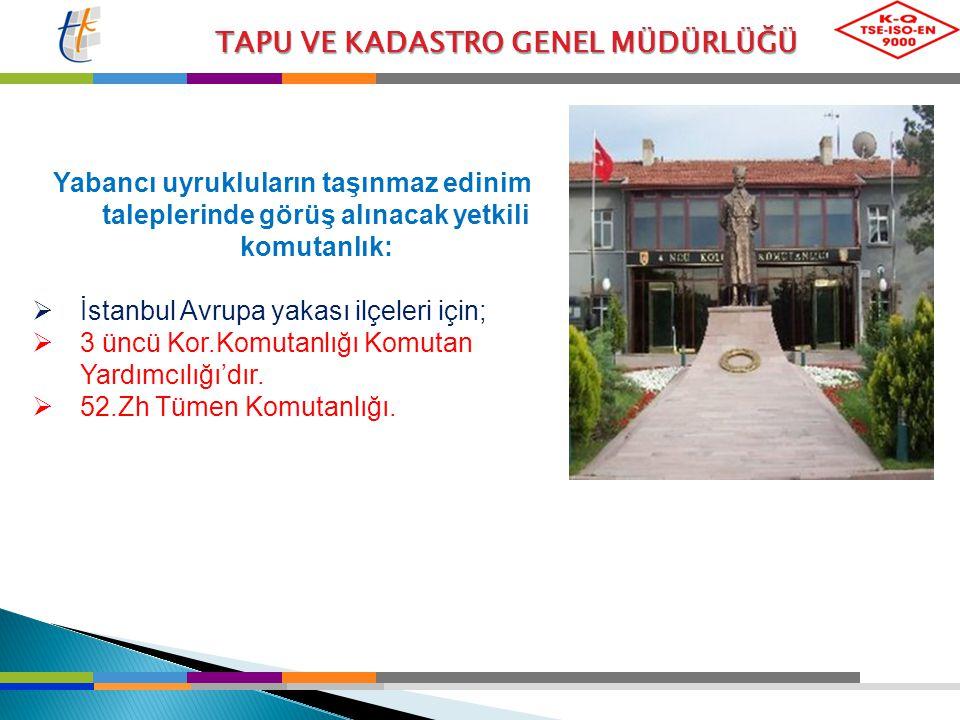 İstanbul Avrupa yakası ilçeleri için;