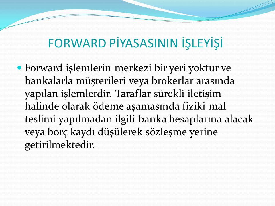 FORWARD PİYASASININ İŞLEYİŞİ