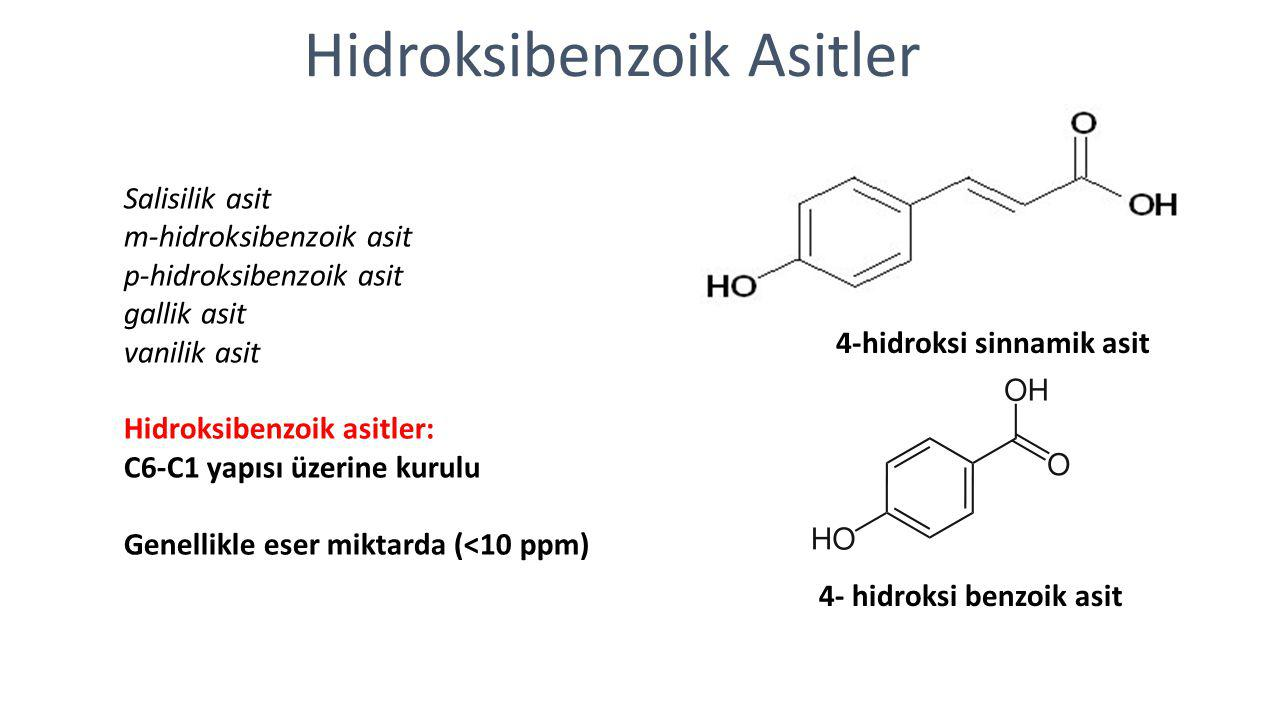 Hidroksibenzoik Asitler