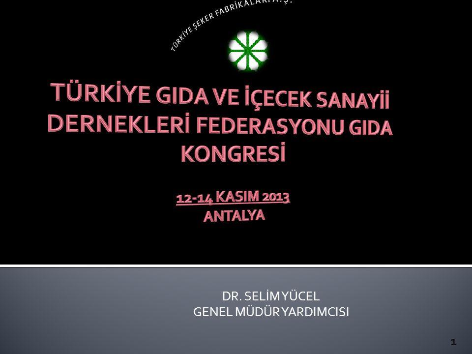DR. SELİM YÜCEL GENEL MÜDÜR YARDIMCISI