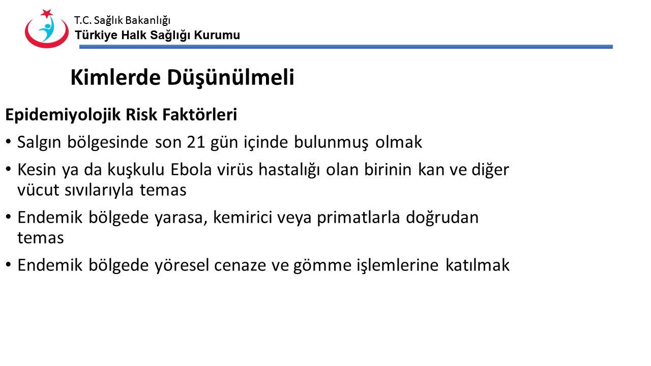 Kimlerde Düşünülmeli Epidemiyolojik Risk Faktörleri