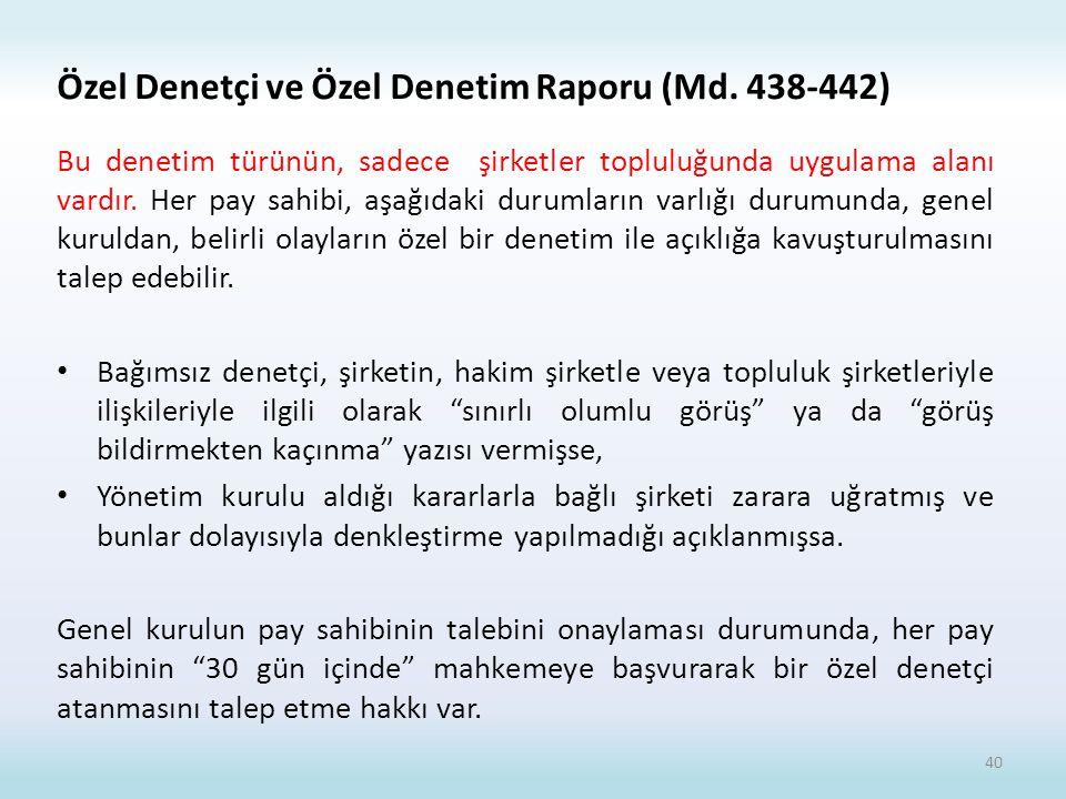 Özel Denetçi ve Özel Denetim Raporu (Md. 438-442)