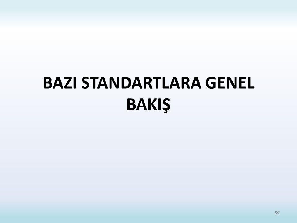 BAZI STANDARTLARA GENEL BAKIŞ
