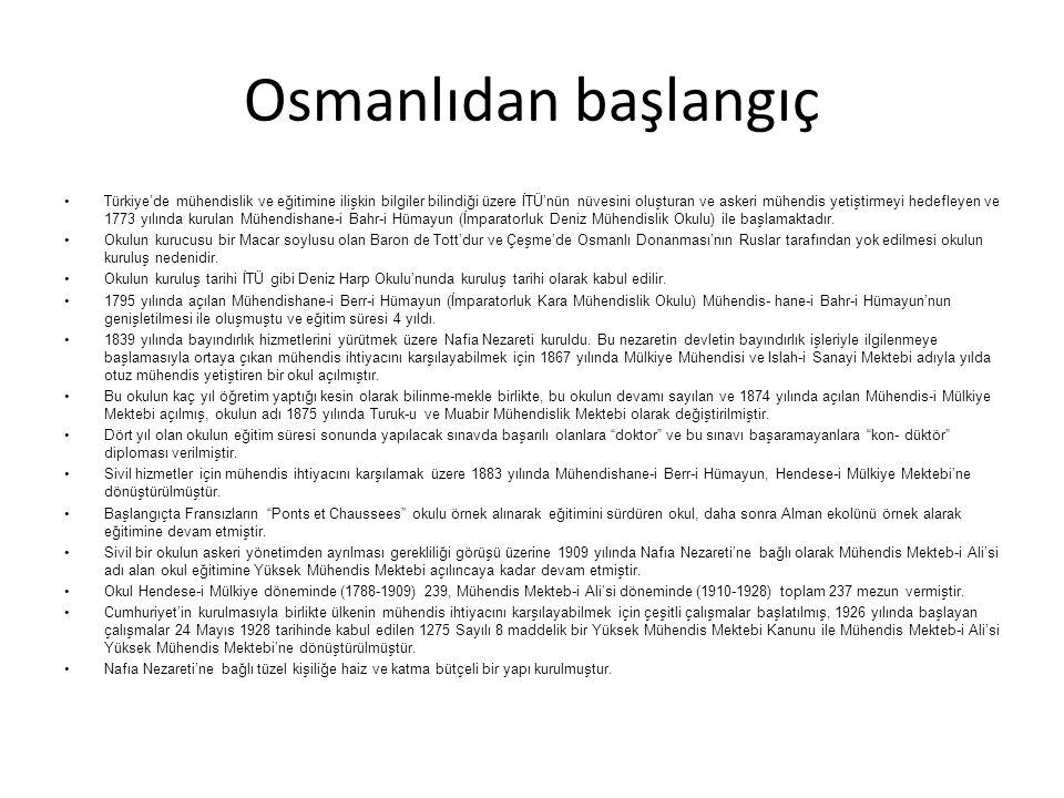 Osmanlıdan başlangıç