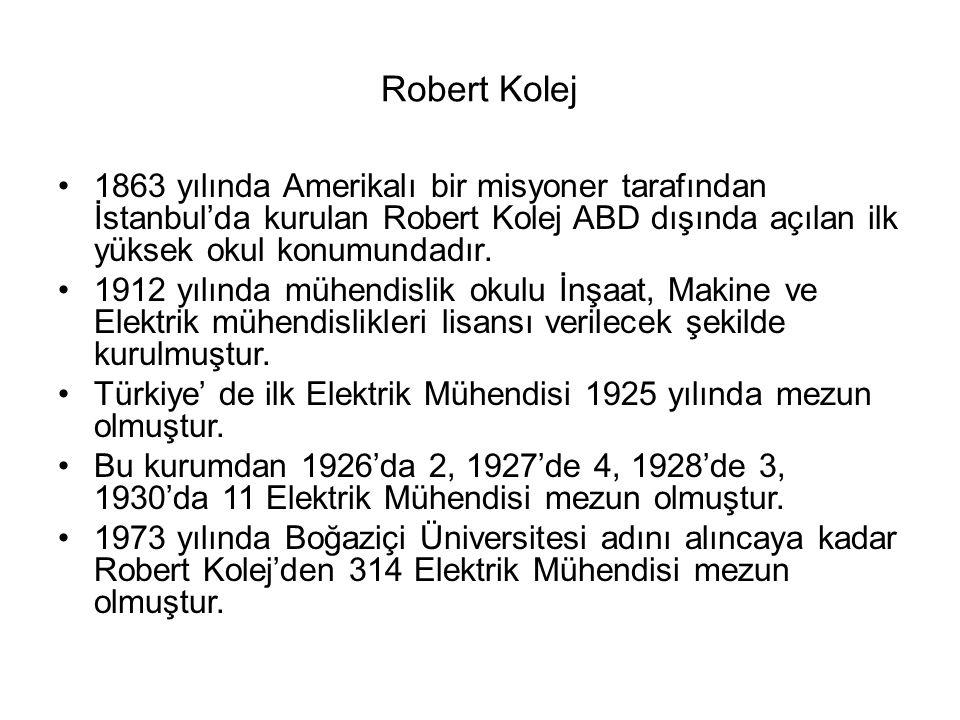 Robert Kolej 1863 yılında Amerikalı bir misyoner tarafından İstanbul'da kurulan Robert Kolej ABD dışında açılan ilk yüksek okul konumundadır.