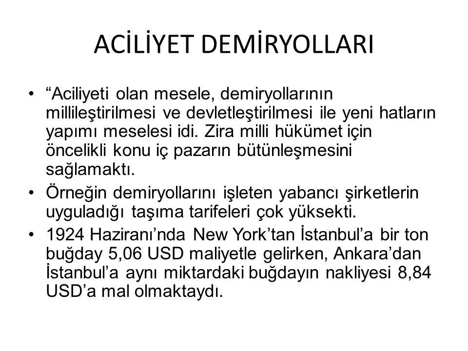 ACİLİYET DEMİRYOLLARI