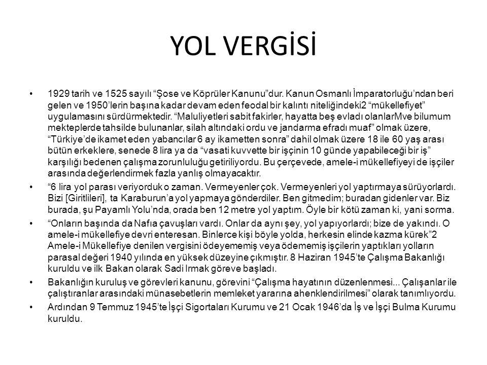 YOL VERGİSİ