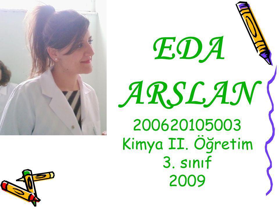 EDA ARSLAN 200620105003 Kimya II. Öğretim 3. sınıf 2009