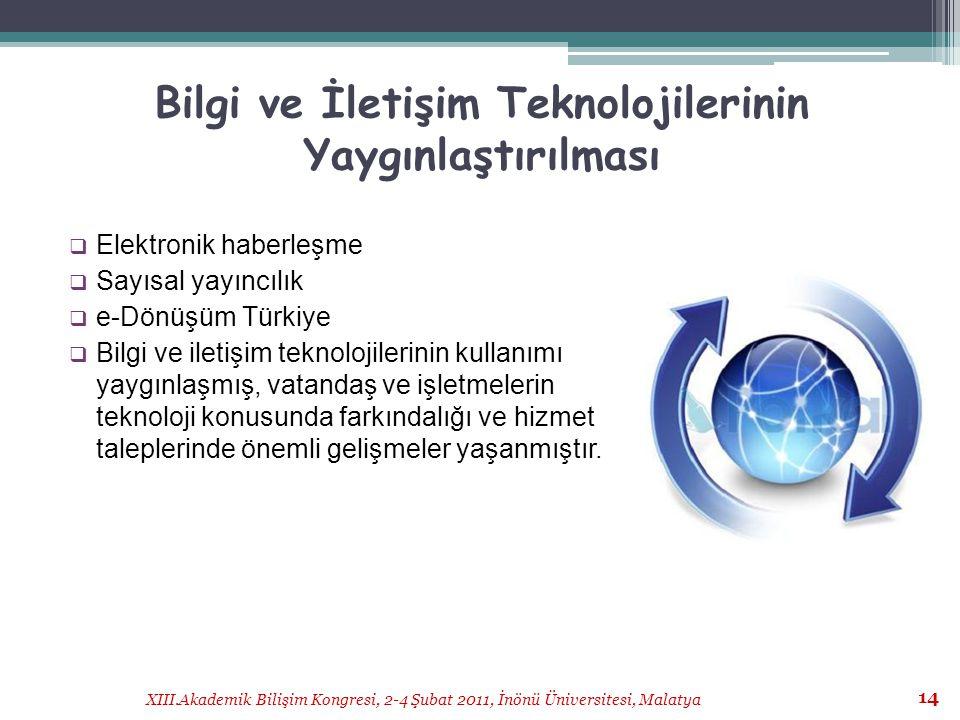 Bilgi ve İletişim Teknolojilerinin Yaygınlaştırılması