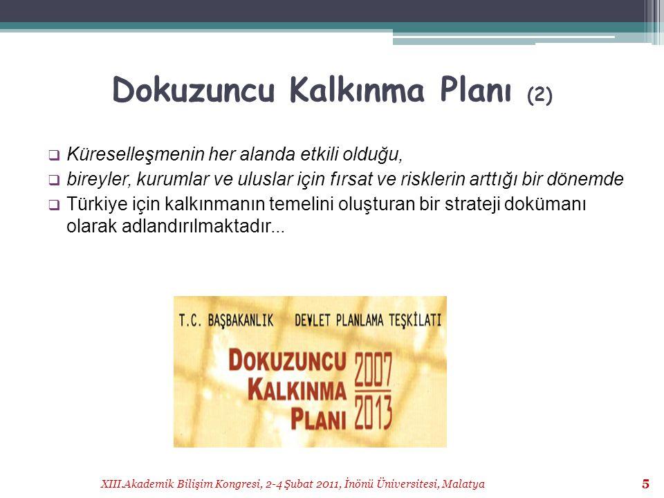 Dokuzuncu Kalkınma Planı (2)