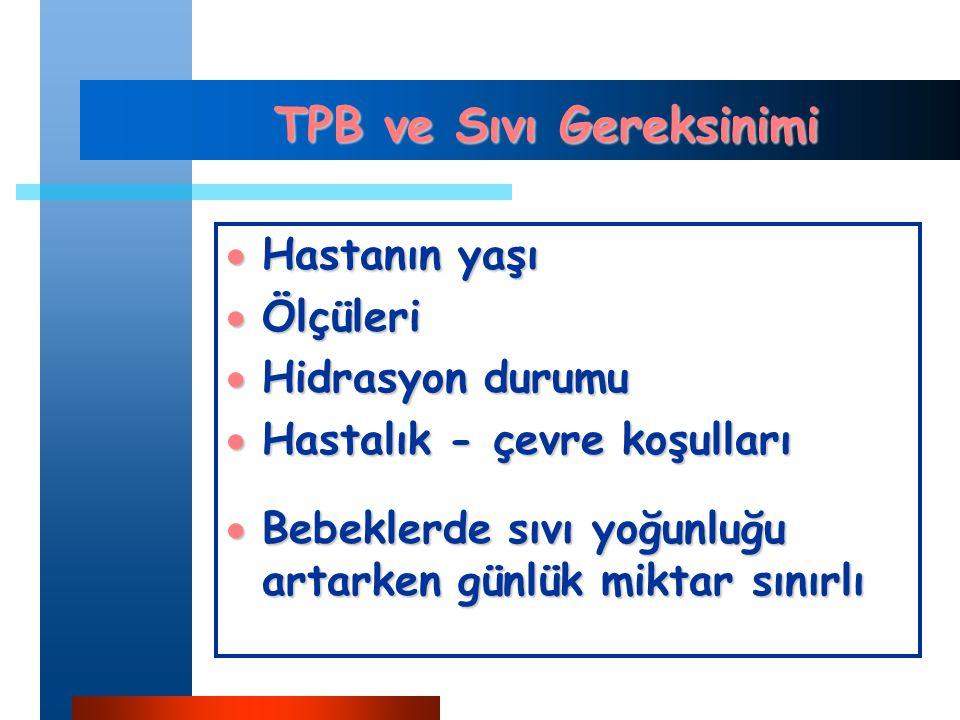 TPB ve Sıvı Gereksinimi