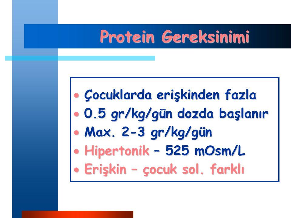 Protein Gereksinimi Çocuklarda erişkinden fazla