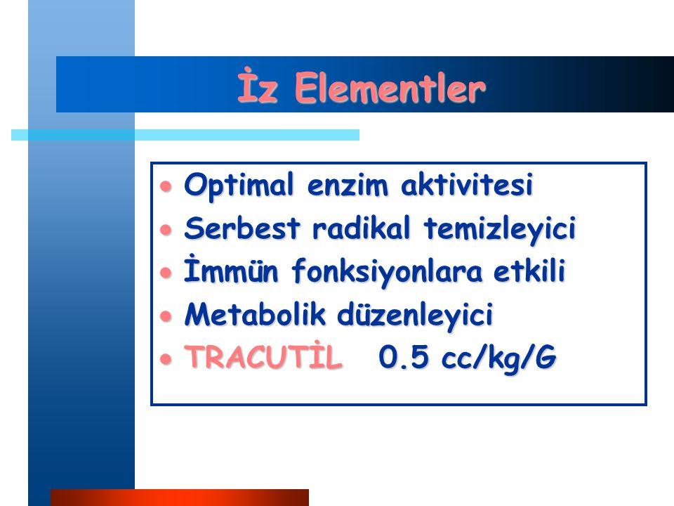 İz Elementler Optimal enzim aktivitesi Serbest radikal temizleyici