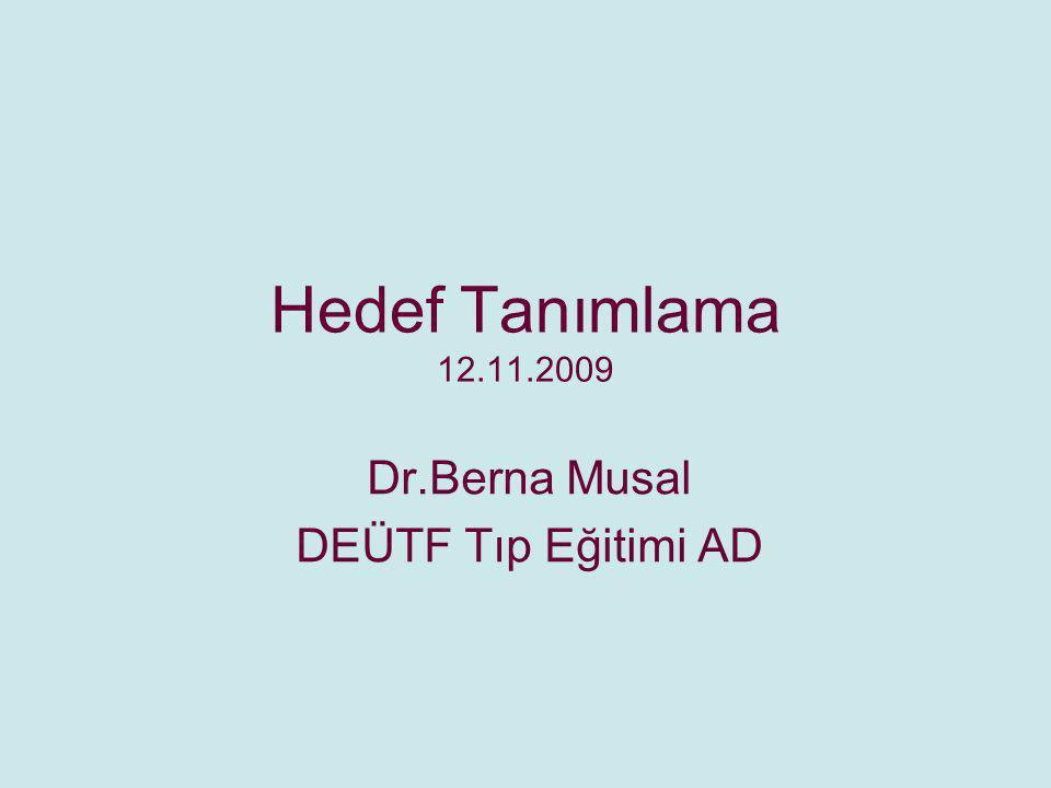 Dr.Berna Musal DEÜTF Tıp Eğitimi AD