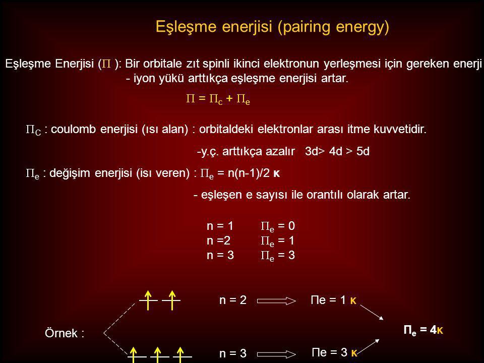 Eşleşme enerjisi (pairing energy)