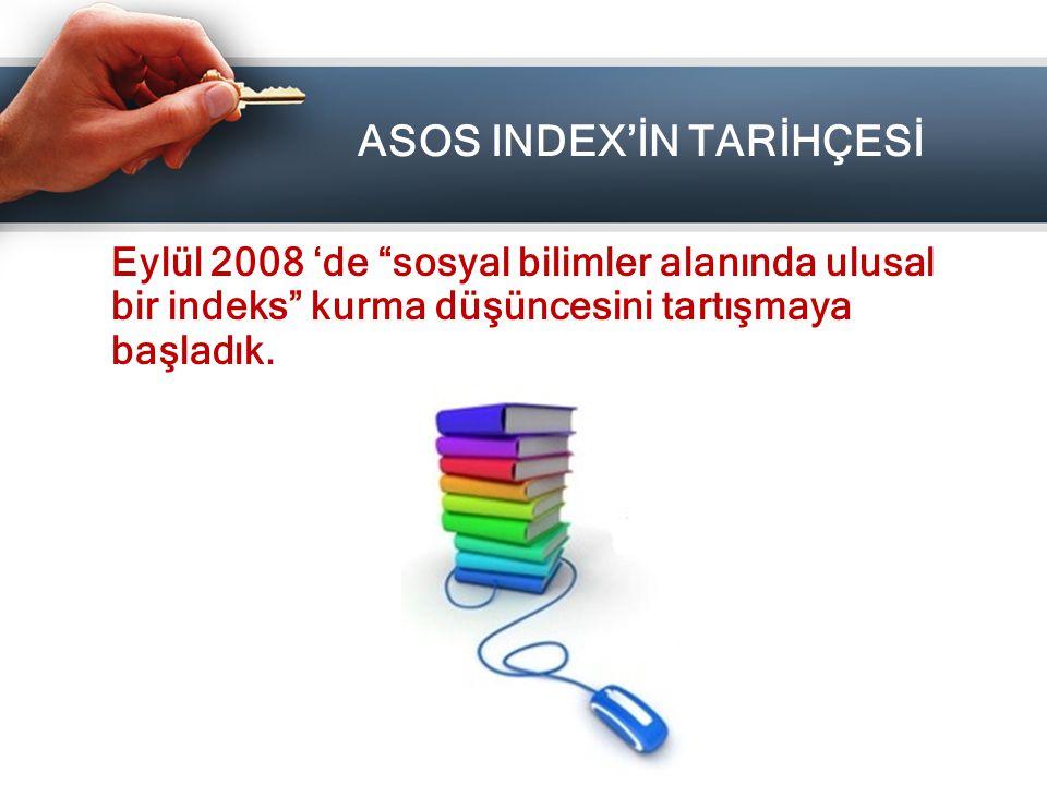 ASOS INDEX'İN TARİHÇESİ