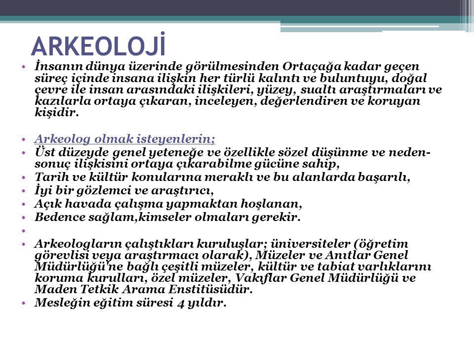 ARKEOLOJİ