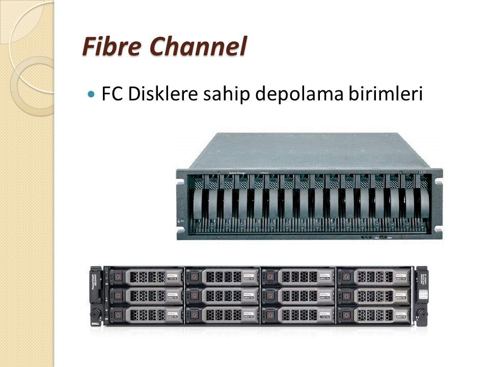 Fibre Channel FC Disklere sahip depolama birimleri