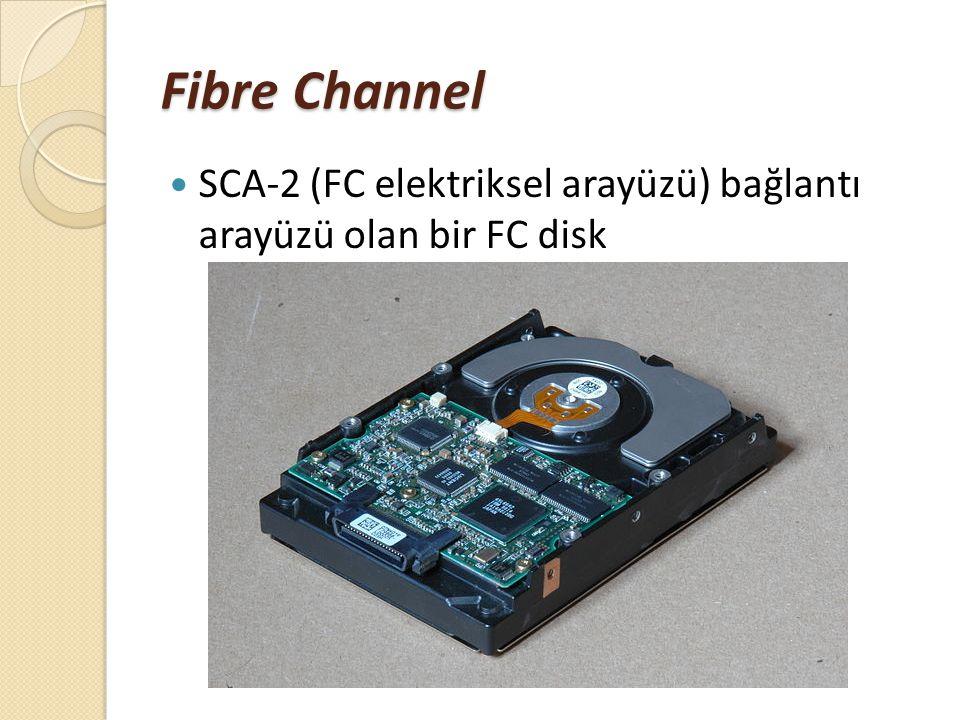 Fibre Channel SCA-2 (FC elektriksel arayüzü) bağlantı arayüzü olan bir FC disk