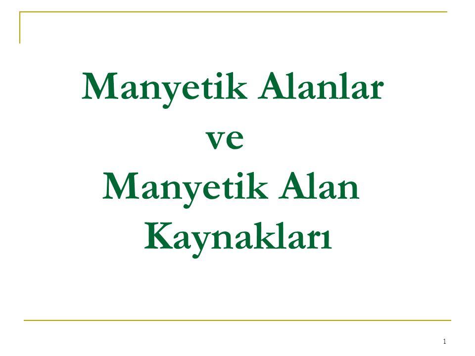 Manyetik Alanlar ve Manyetik Alan Kaynakları