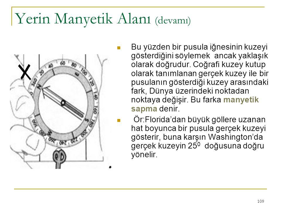 Yerin Manyetik Alanı (devamı)
