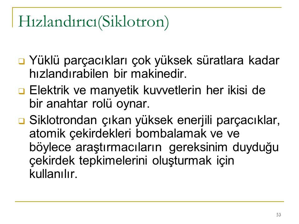 Hızlandırıcı(Siklotron)