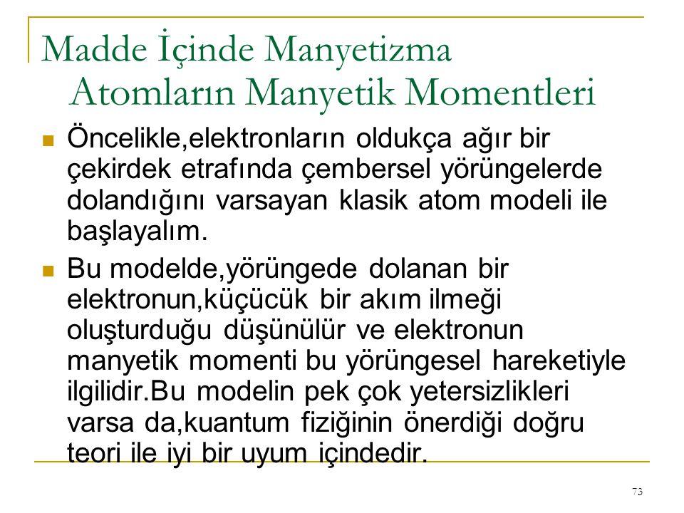 Atomların Manyetik Momentleri
