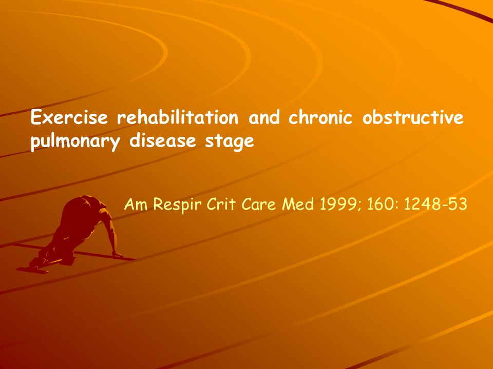 Exercise rehabilitation and chronic obstructive