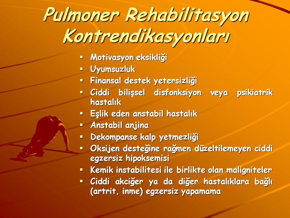 Pulmoner Rehabilitasyon Kontrendikasyonları