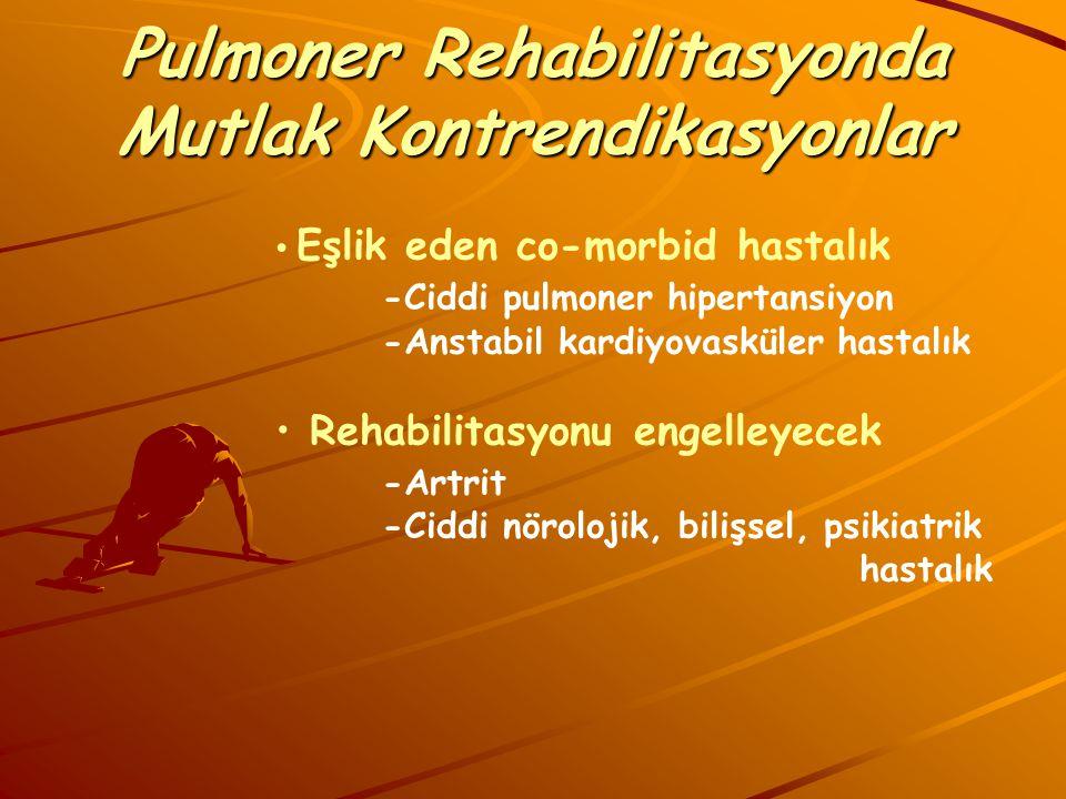 Pulmoner Rehabilitasyonda Mutlak Kontrendikasyonlar