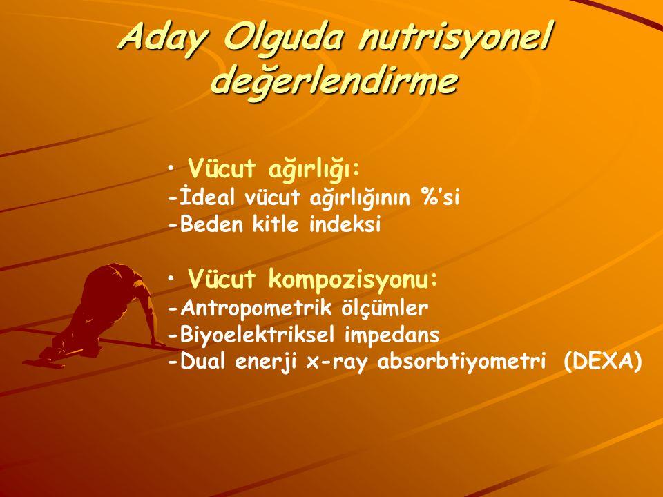 Aday Olguda nutrisyonel değerlendirme