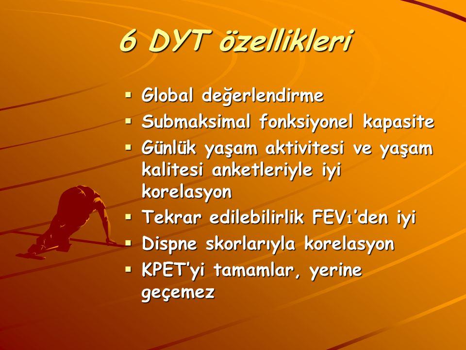 6 DYT özellikleri Global değerlendirme