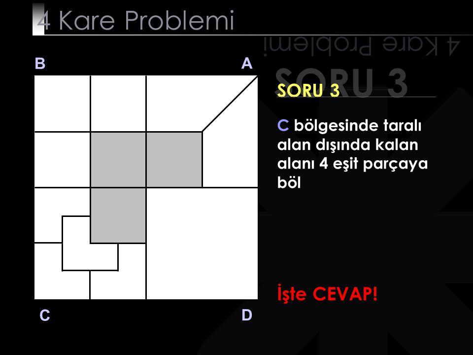 SORU 3 4 Kare Problemi 4 Kare Problemi SORU 3 İşte CEVAP! B A