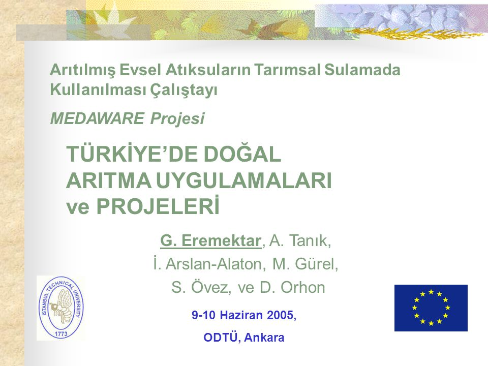 İ. Arslan-Alaton, M. Gürel,
