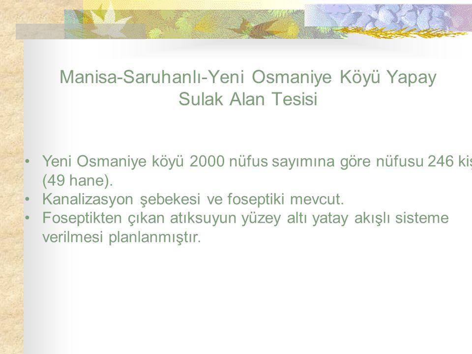 Manisa-Saruhanlı-Yeni Osmaniye Köyü Yapay Sulak Alan Tesisi