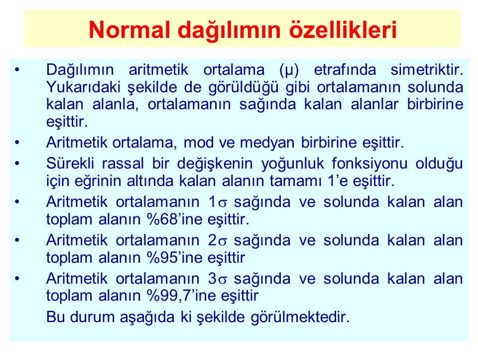 Normal dağılımın özellikleri