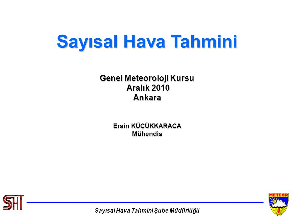 Genel Meteoroloji Kursu