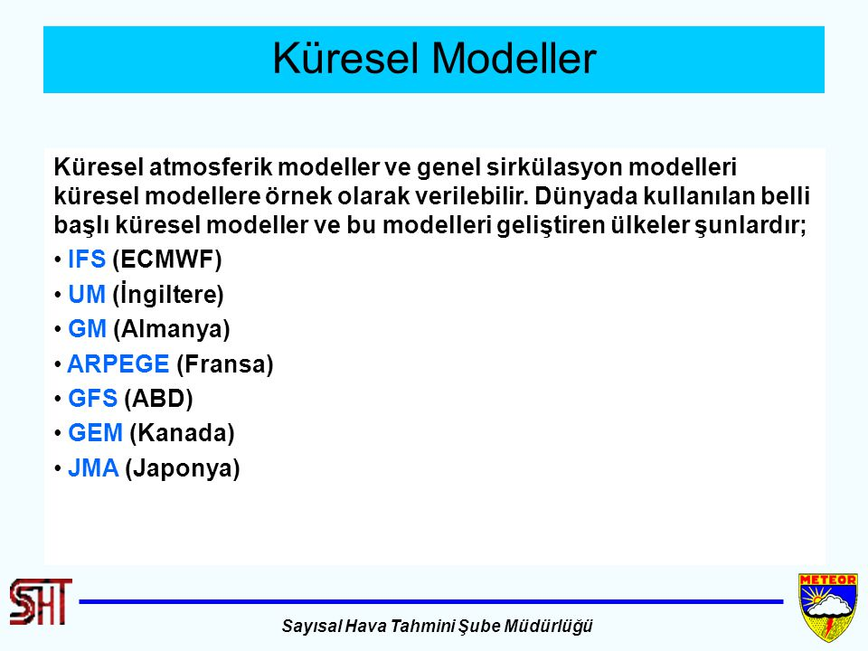 Küresel Modeller
