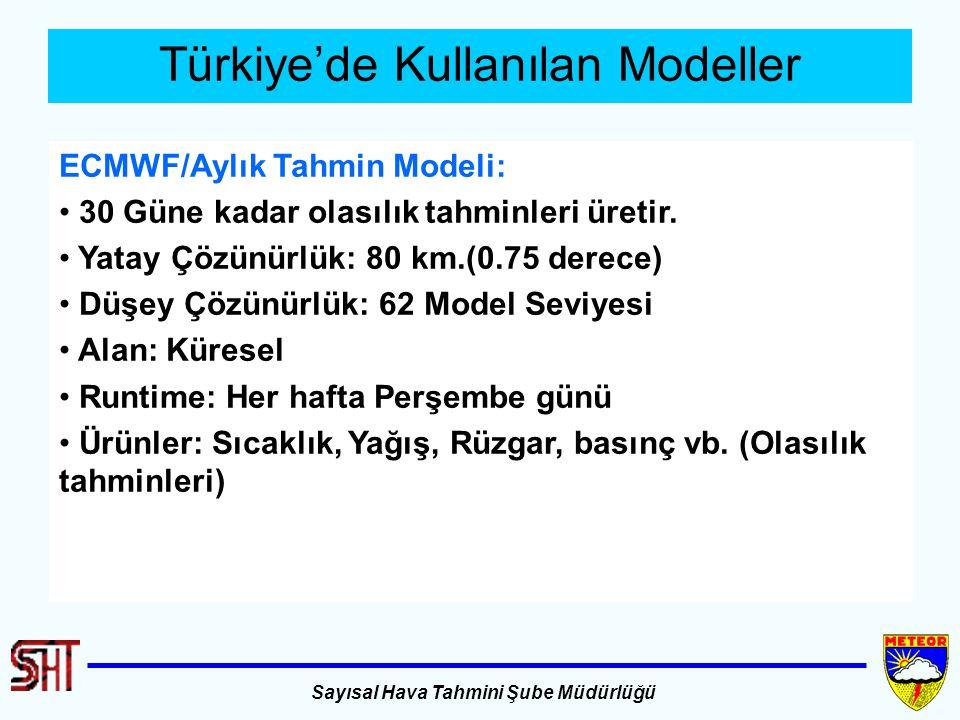 Türkiye'de Kullanılan Modeller