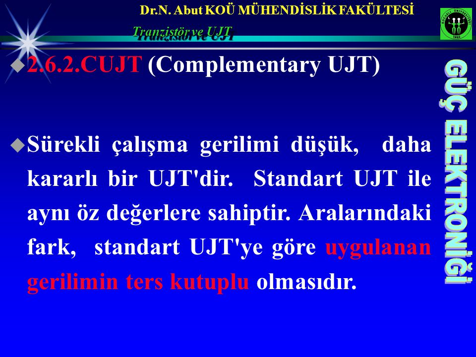 2.6.2.CUJT (Complementary UJT)