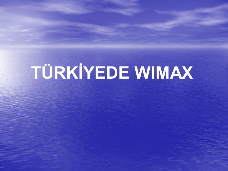 TÜRKİYEDE WIMAX