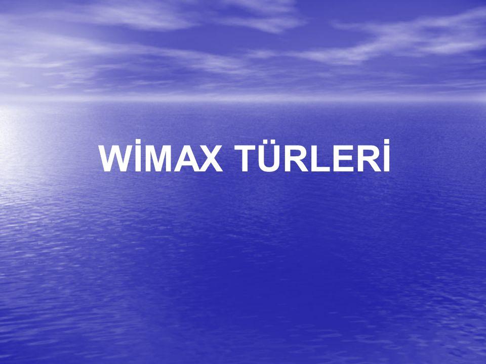 WİMAX TÜRLERİ
