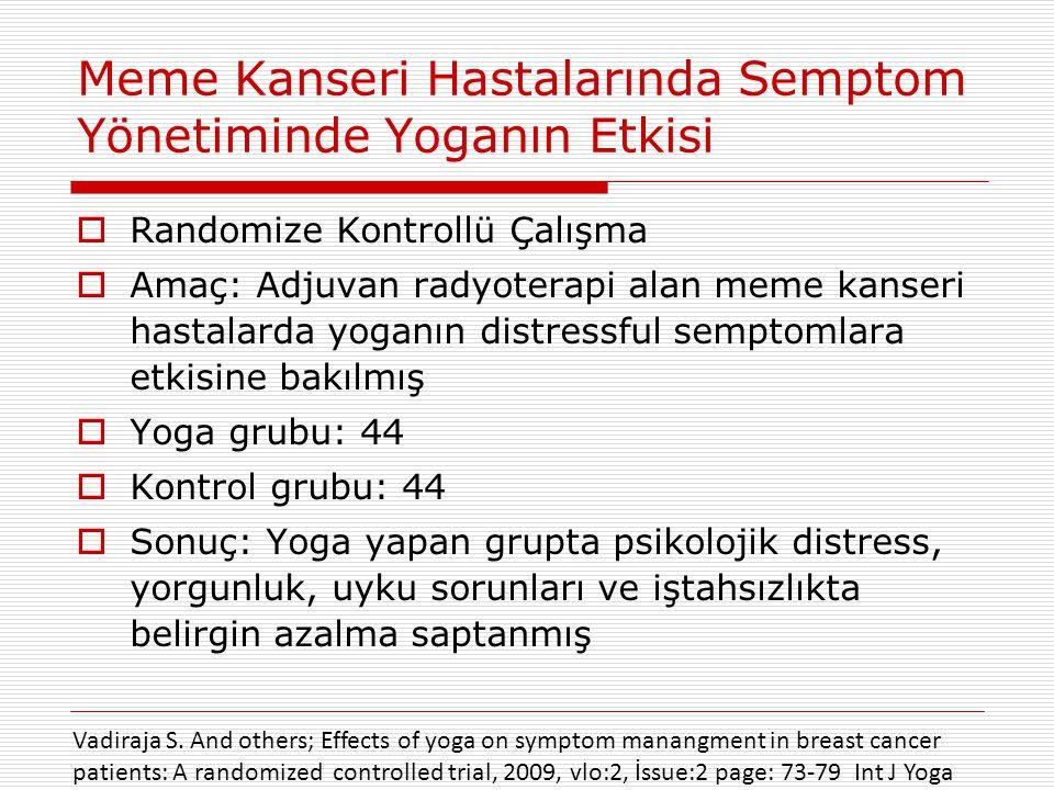 Meme Kanseri Hastalarında Semptom Yönetiminde Yoganın Etkisi
